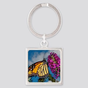 Monarch Butterfly Jigsaw Puzzle Square Keychain