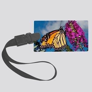 Monarch Butterfly Jigsaw Puzzle Large Luggage Tag