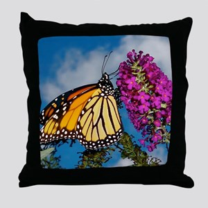 Monarch Butterfly Jigsaw Puzzle Throw Pillow
