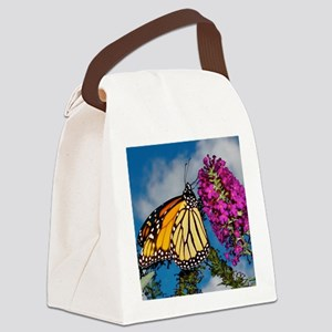 Monarch Butterfly Jigsaw Puzzle Canvas Lunch Bag