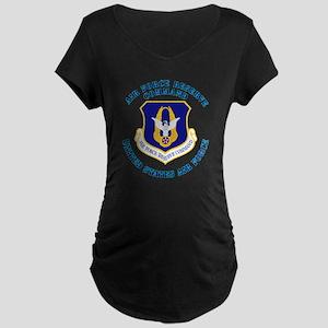 Air-Force-Reserve-Cmdwtxt Maternity Dark T-Shirt