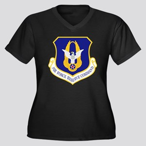 Air-Force-Re Women's Plus Size Dark V-Neck T-Shirt