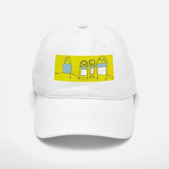 budgie family yellow Baseball Baseball Cap