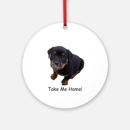 Rottweiler Puppy Ornament (Round)