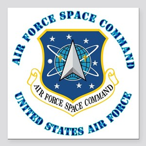 "Air-Force-Space-Cmdwtxt Square Car Magnet 3"" x 3"""