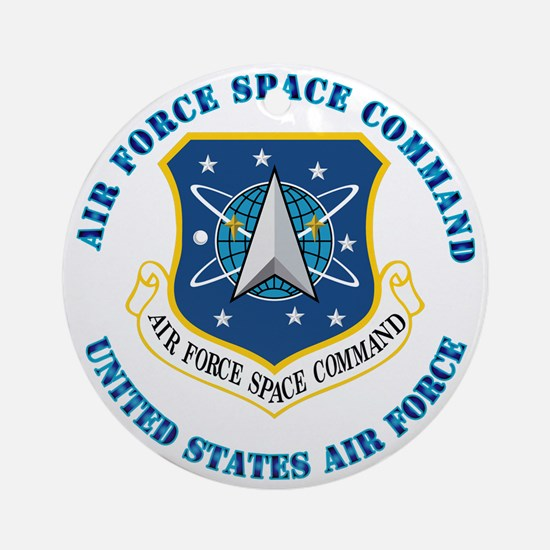 Air-Force-Space-Cmdwtxt Round Ornament