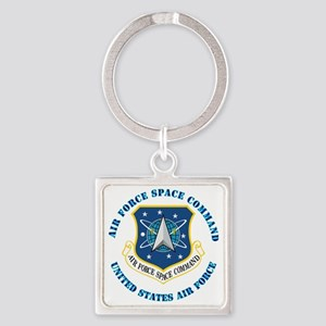 Air-Force-Space-Cmdwtxt Square Keychain