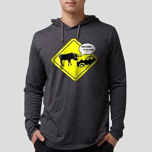 Welcome To Alaska Mens Hooded Shirt