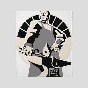 Black_smith_giant-grey Throw Blanket