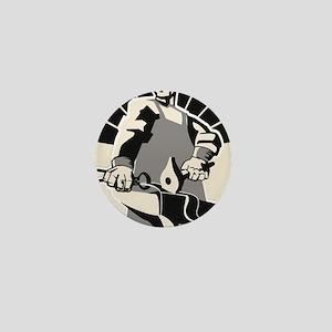 Black_smith_giant-grey Mini Button