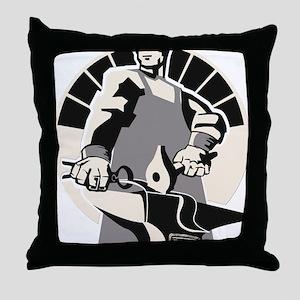 Black_smith_giant-grey Throw Pillow