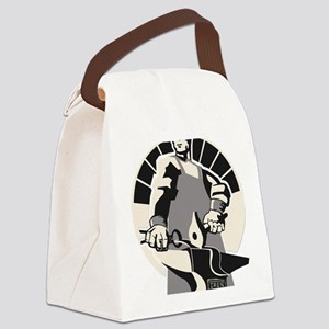 Black_smith_giant-grey Canvas Lunch Bag