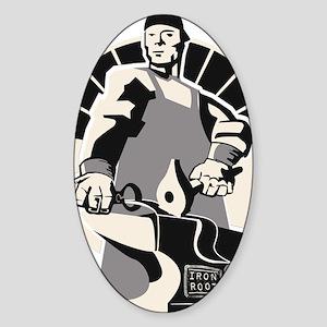 Black_smith_giant-grey Sticker (Oval)