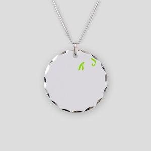 whitelittleslogo Necklace Circle Charm