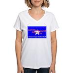 No Surrender Women's V-Neck T-Shirt