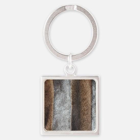 MinkFlip Square Keychain