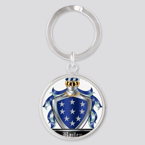 BAILEY COAT OF ARMS Round Keychain