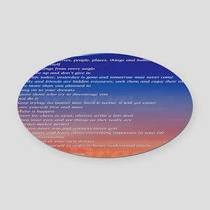 reviiiiised ABCs mousepad bottom c Oval Car Magnet