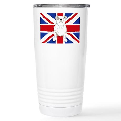 English Bulldog Flag Stainless Steel Travel Mug