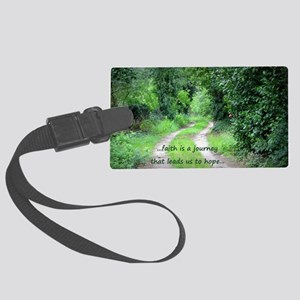 Faith is a Journey Large Luggage Tag