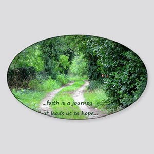 Faith is a Journey Sticker (Oval)