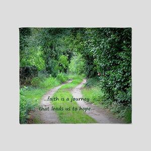 Faith is a Journey Throw Blanket