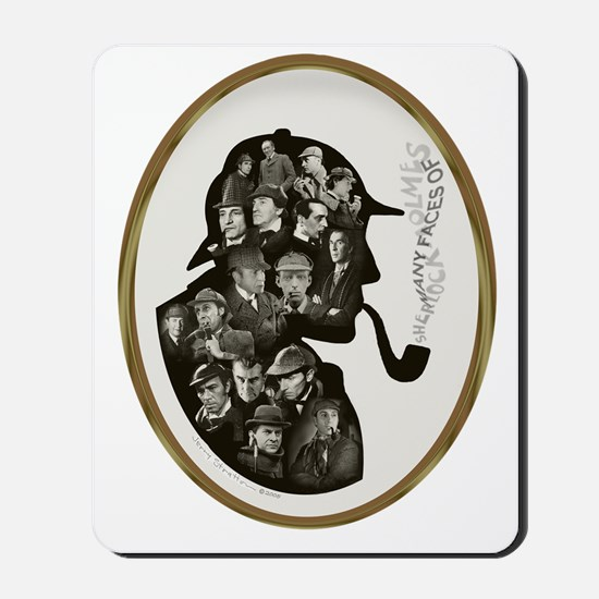 Manyfaces T  framed for black copy copy Mousepad