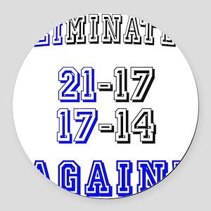 Eliminated Again! Round Car Magnet