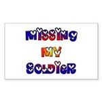 Missing My Soldier Rectangle Sticker
