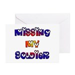 Missing My Soldier Greeting Cards (Pk of 10)