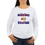Missing My Soldier Women's Long Sleeve T-Shirt