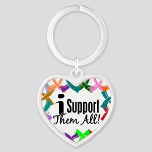 D All Ribbons 3 Heart Keychain