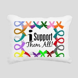 D All Ribbons 3 Rectangular Canvas Pillow