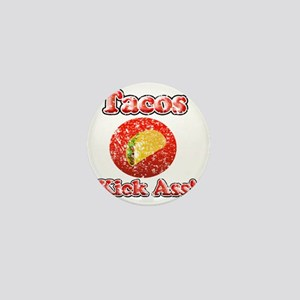 Vintage Tacos Kick Ass Mini Button