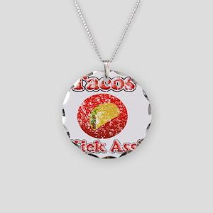 Vintage Tacos Kick Ass Necklace Circle Charm