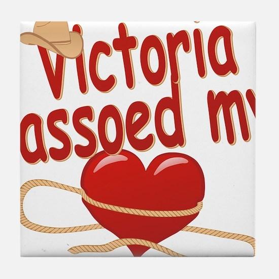 victoria-g-lassoed Tile Coaster