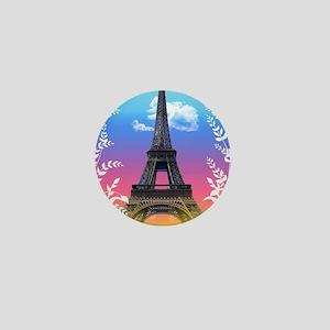 eiffel-tower-paris-france Mini Button