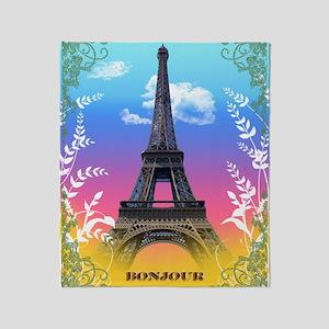 eiffel-tower-paris-france Throw Blanket