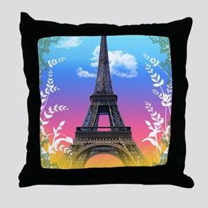 eiffel-tower-paris-france Throw Pillow