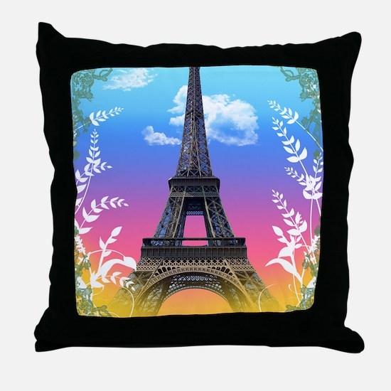 eiffel-tower-paris-france Throw Pillow