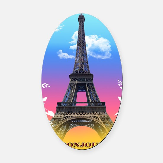 eiffel-tower-paris-france Oval Car Magnet