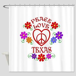 Peace Love Texas Shower Curtain