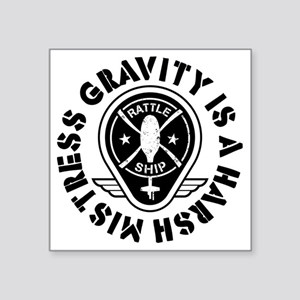 "Rattleship Gravity Square Sticker 3"" x 3"""