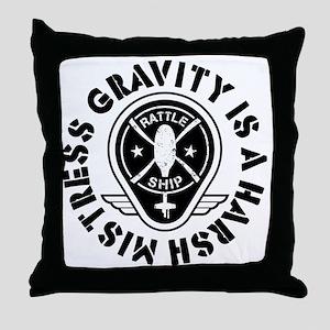 Rattleship Gravity Throw Pillow