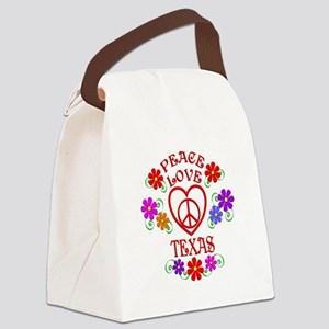 Peace Love Texas Canvas Lunch Bag