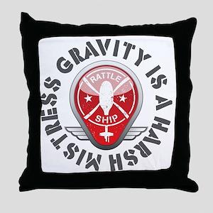 Rattleship Gravity Red Throw Pillow
