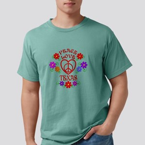 Peace Love Texas Mens Comfort Colors Shirt