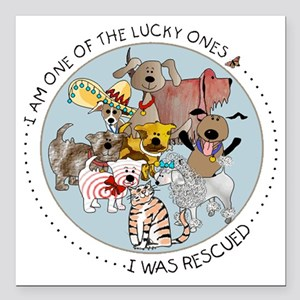 """luckyone Square Car Magnet 3"""" x 3"""""""