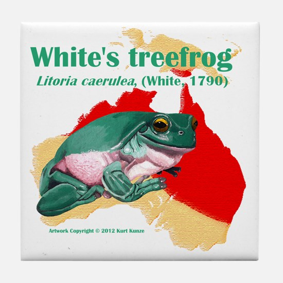 Litoria caerulea t-shirt Tile Coaster