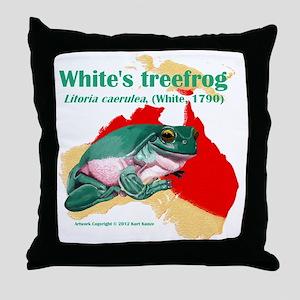 Litoria caerulea t-shirt Throw Pillow